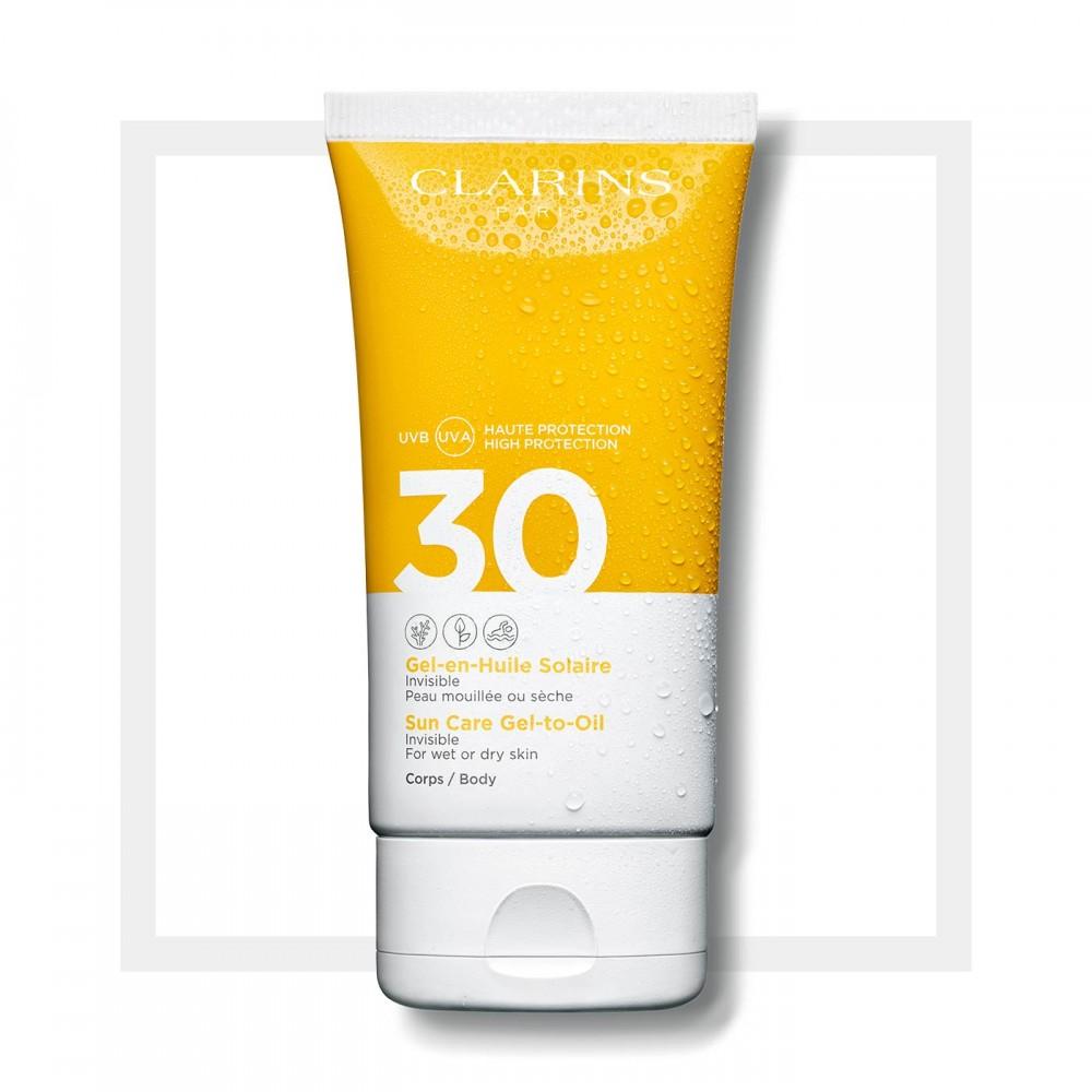Солнцезащитное масло-спрей для тела и волос Clarins Huile-en-Brume Solaire  SPF 30 150 мл