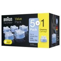 Картридж для бритв Braun с чистящей жидкостьюCCR 5+1
