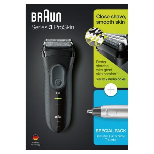 Электробритва Braun Series 3 ProSkin 3000s + Триммер для носа и ушей Braun Ear&Nose EN10