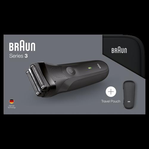 Электробритва Braun Series 3 300ts Black + футляр + несессер