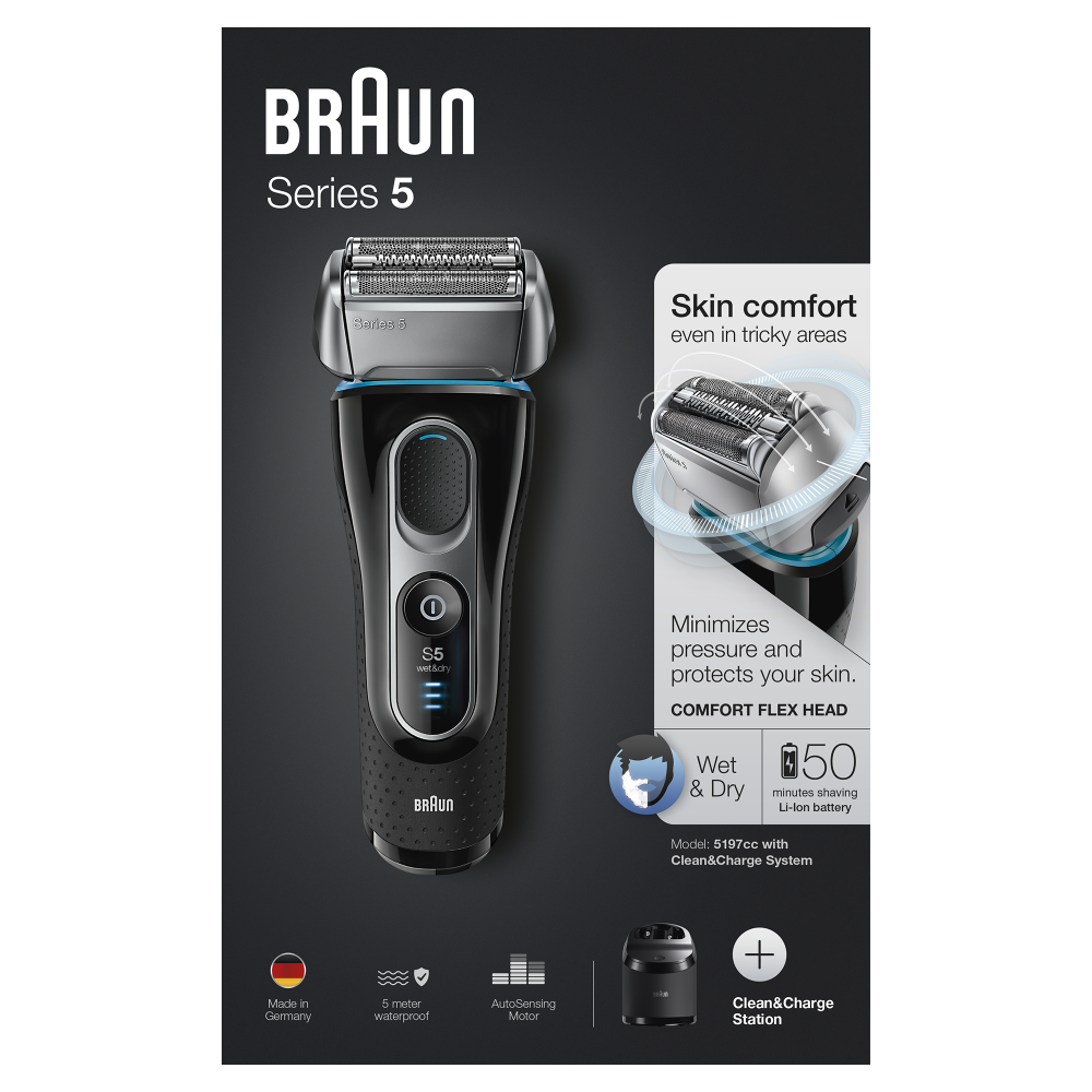 Электробритва Braun Series 5 5197сс со станцией Clean&Charge