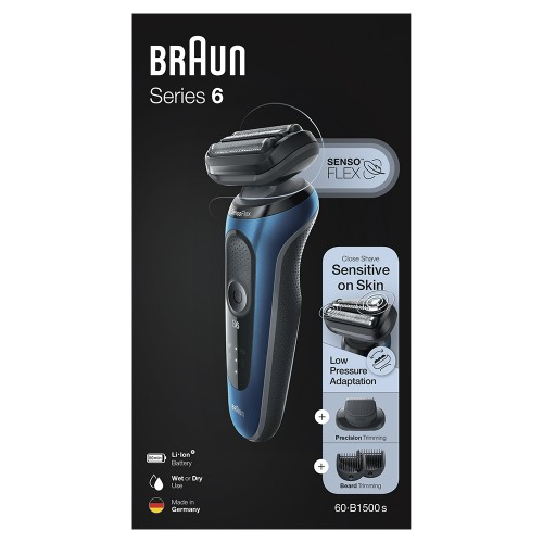 Электробритва Braun Series 6 60-B1500s Blue