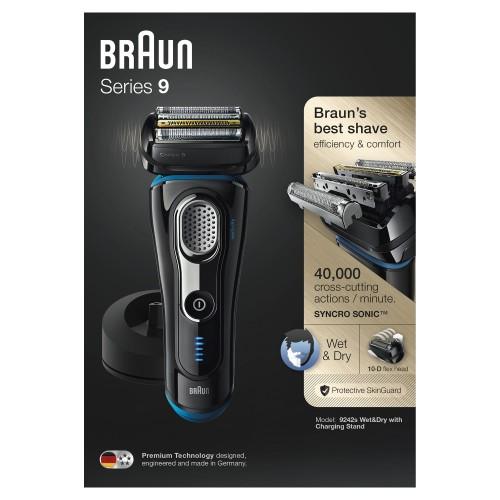 Электробритва Braun Series 9 9242s с зарядной станцией и тканевым футляром