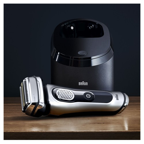 Электробритва Braun Series 9 9291cc со станцией Clean&Charge и тканевым футляром