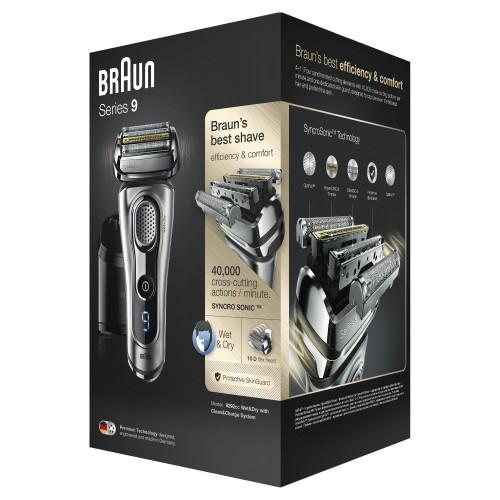Электробритва Braun Series 9 9292cc со станцией Clean&Charge и тканевым футляром