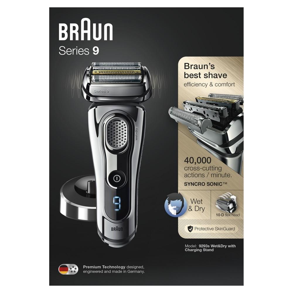Электробритва Braun Series 9 9293s с зарядной станцией и тканевым футляром