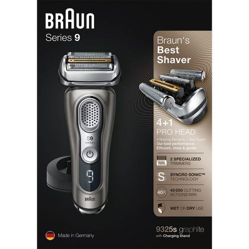 Электробритва Braun Series 9 9325s с зарядной станцией и тканевым футляром