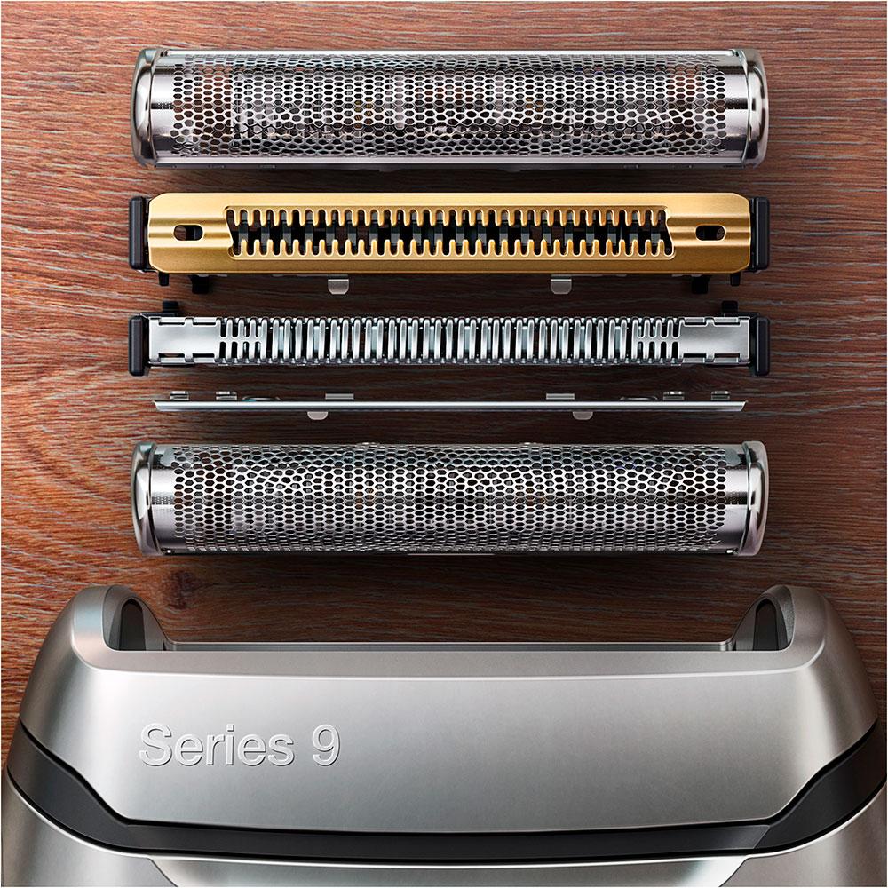 Электробритва Braun Series 9 9350s с зарядной станцией и тканевым футляром