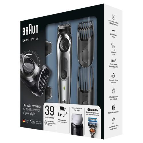 Триммер для бороды Braun BT7040 + Бритва Gillette