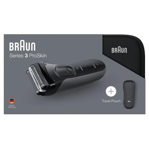 Электробритва Braun Series  3 ProSkin 3000ts Grey + футляр + несессер