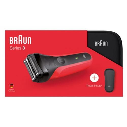 Электробритва Braun Series 3 300ts Red + футляр + несессер