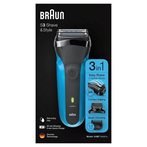 Электробритва Braun Series 3 Shave&Style 310bt + насадка-триммер и 5 гребней