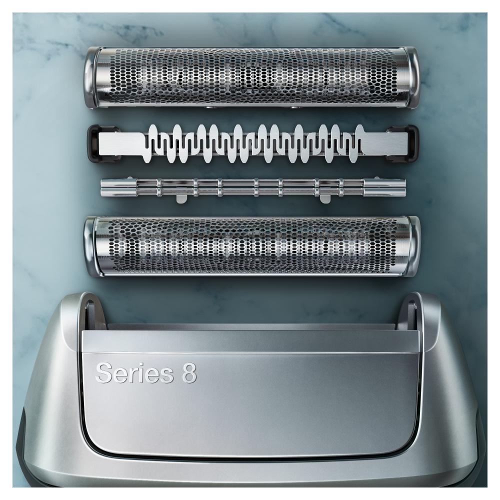 Электробритва Braun Series 8 8340s с зарядной станцией и тканевым футляром