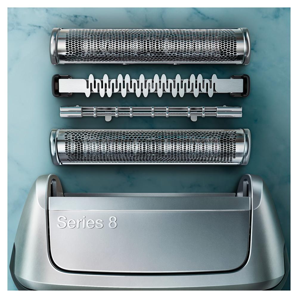 Электробритва Braun Series 8 8350s с зарядной станцией и тканевым футляром
