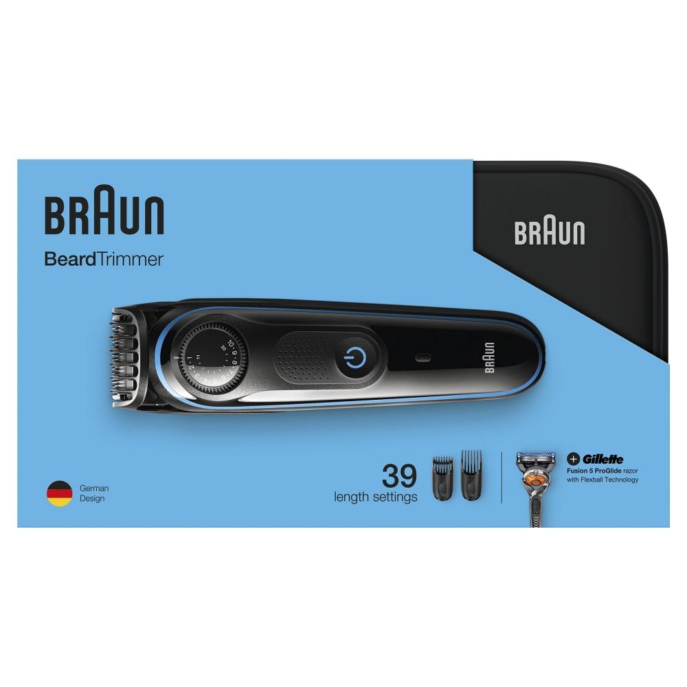 Триммер для бороды Braun BT3940TS + Бритва Gillette