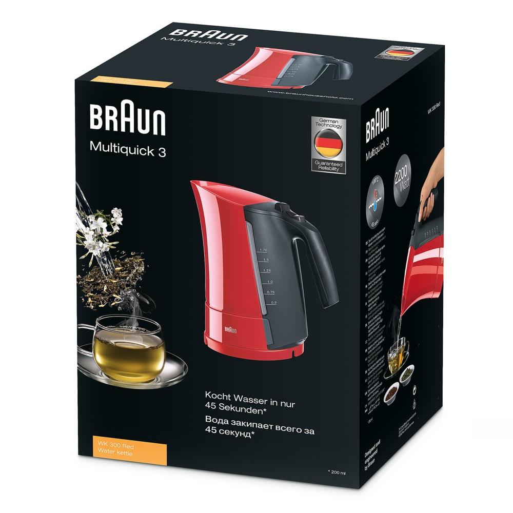 Чайник Braun Multiquick 3 WK300 красный