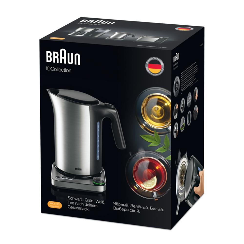 Чайник с терморегулятором Braun ID Breakfast Collection WK 5115 Черный