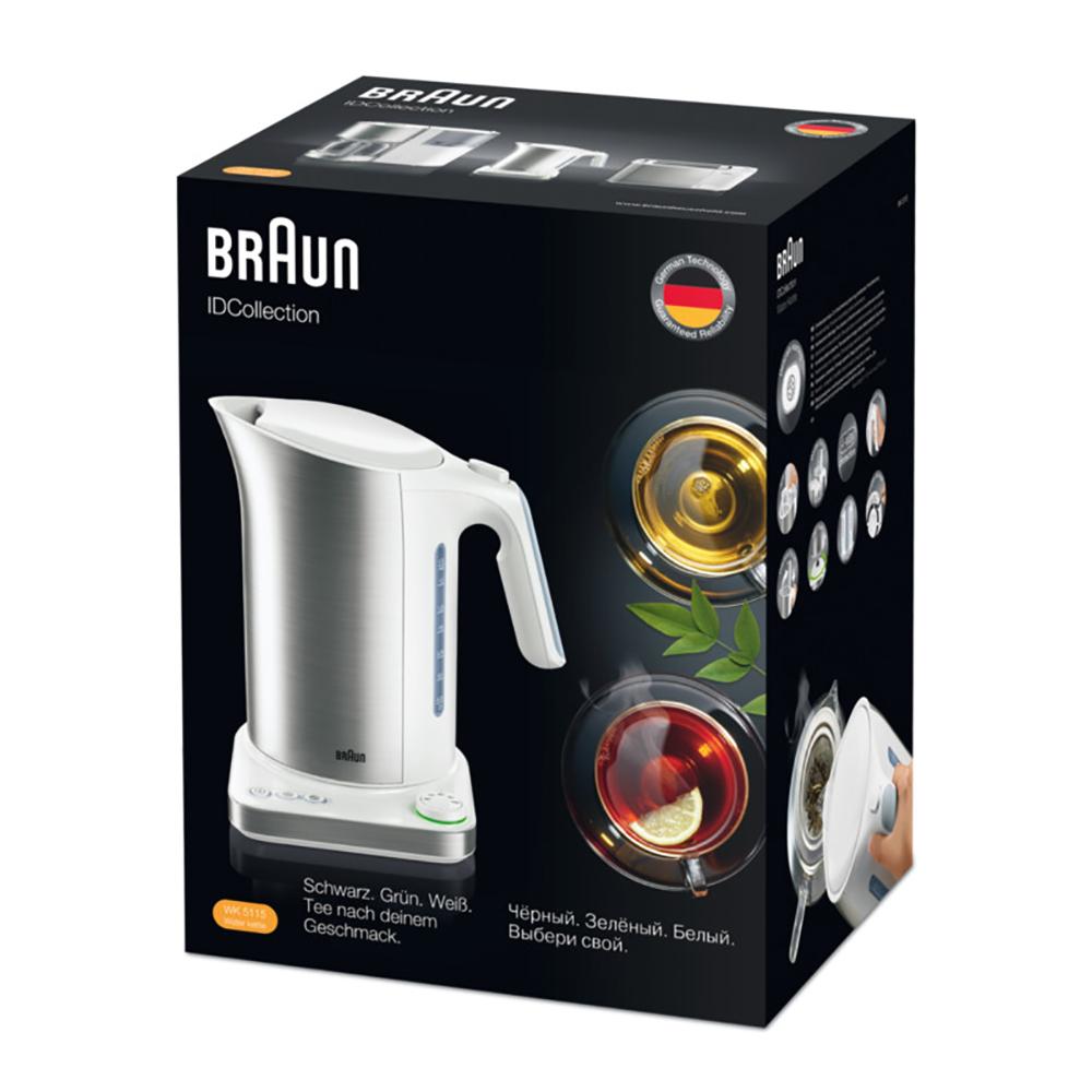 Чайник с терморегулятором Braun IDCollection WK 5115 Белый