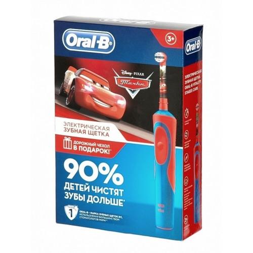 Детская электрическая зубная щетка Oral-B Vitality D12.513K Cars Kids + чехол