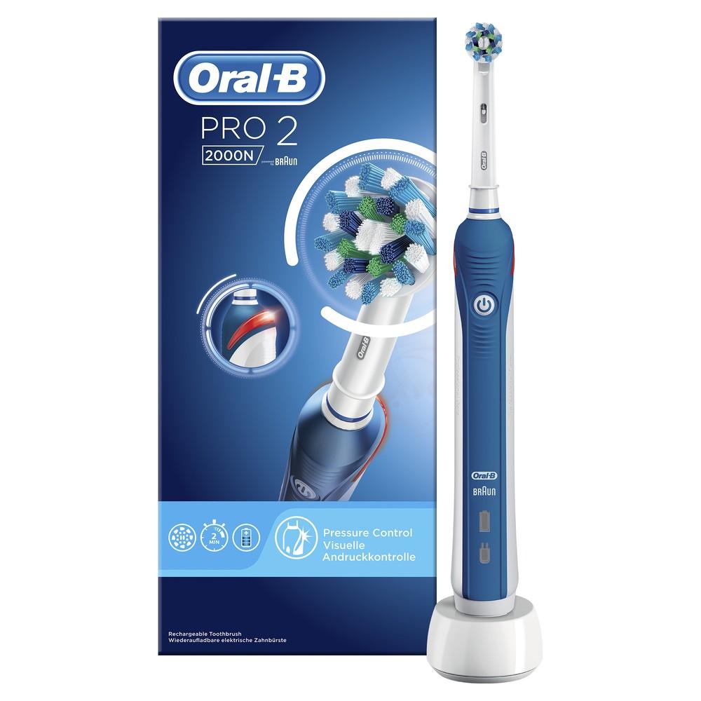 Электрическая зубная щетка Oral-B PRO 2 2000N CrossAction D 501.513.2