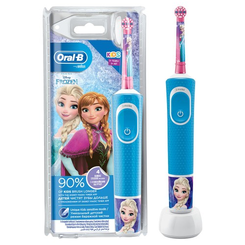 Детская электрическая зубная щетка Oral-B Vitality Kids Холодное сердце D100.413.2K