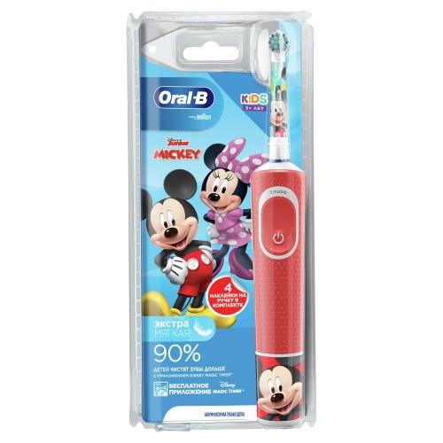 "Детская электрическая зубная щетка Oral-B Vitality Kids Mickey ""Микки"" D100.413.2K (EB10S)"