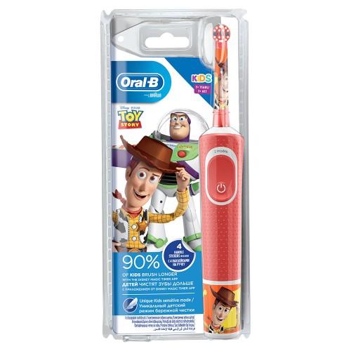 Детская электрическая зубная щетка Oral-B Vitality Kids История игрушек D100.413.2K