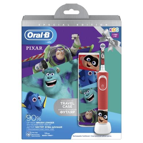 Детская электрическая зубная щетка Oral-B Vitality Kids Pixar D100.413.2KX