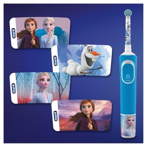 Детская электрическая зубная щетка Oral-B Vitality Kids Холодное сердце D100.413.2KX (EB10S) + чехол