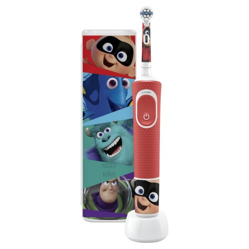 Набор: Электрическая зубная щетка Oral-B Genius 10000N Purple + Детская электрическая зубная щетка Oral-B Vitality Kids Pixar KX