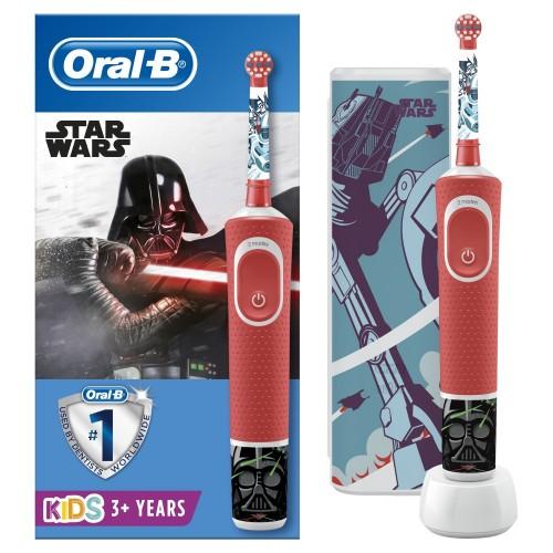 Набор: Электрическая зубная щетка Oral-B Genius 10000N Purple + Детская электрическая зубная щетка Oral-B Vitality Kids Звездные войны