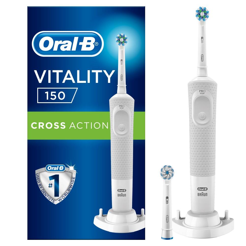 Электрическая зубная щетка Oral-B Vitality CrossAction White 150/D100.424.1