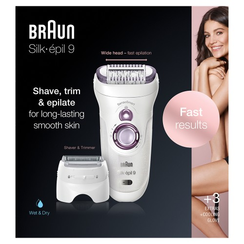 Эпилятор Braun Silk-epil 9 SensoSmart 9/710