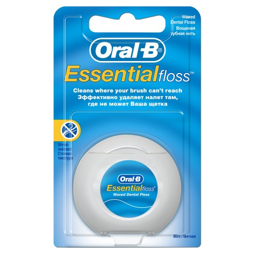 Зубная нить Oral-B Essential floss мятная 50м