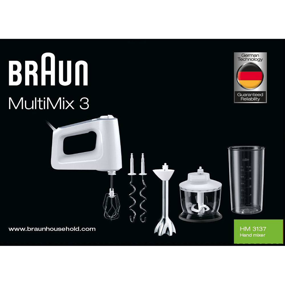 Миксер Braun MultiMix 3 Hand mixer HM3137