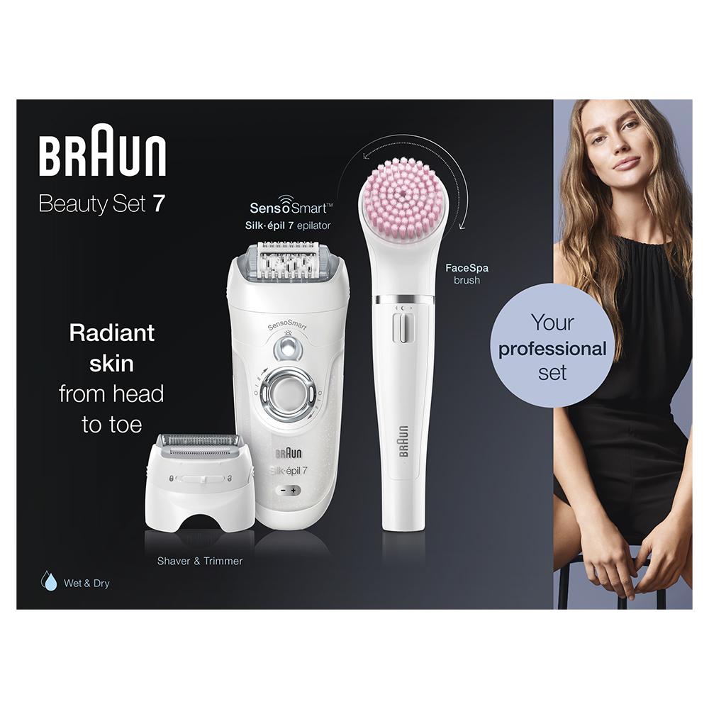 Набор для эпиляции и ухода за кожей Braun Silk-epil 7 Beauty Set SES 7-875