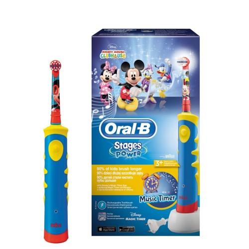Детская электрическая зубная щетка Oral-B Mickey Kids D10.513K