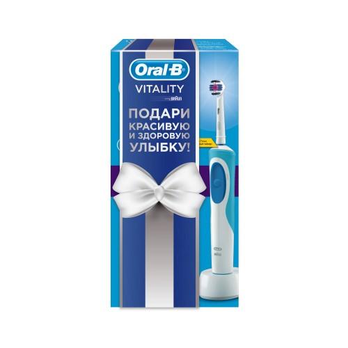 Электрическая зубная щетка Oral-B Vitality 3D White D12.513W в подарочной упаковке