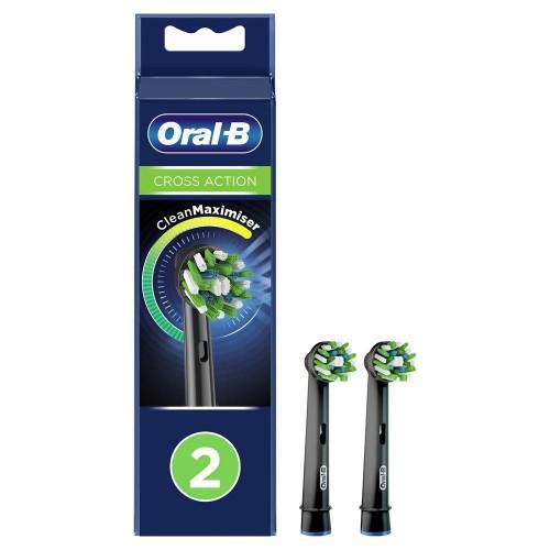 Насадки для зубных щеток ORAL-B CrossAction Black EB50BRB (2 шт)
