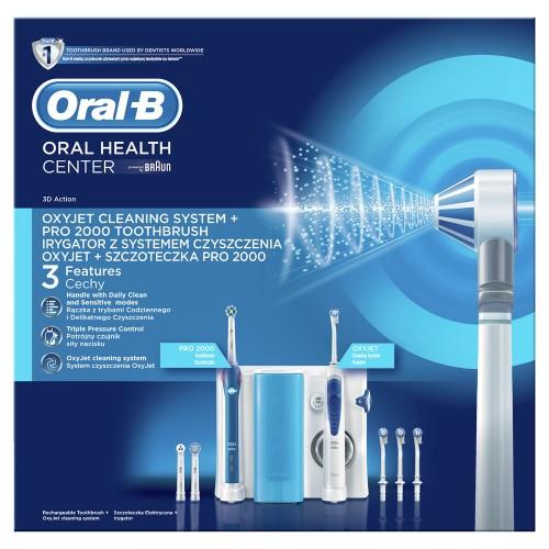 Зубной центр Brаun Oral-B ProfessionalCare OC501.535.2 OxyJet + PRO2000