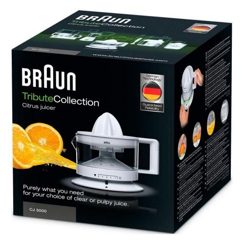 Цитрусовая соковыжималка Braun Tribute CJ3000WH белая