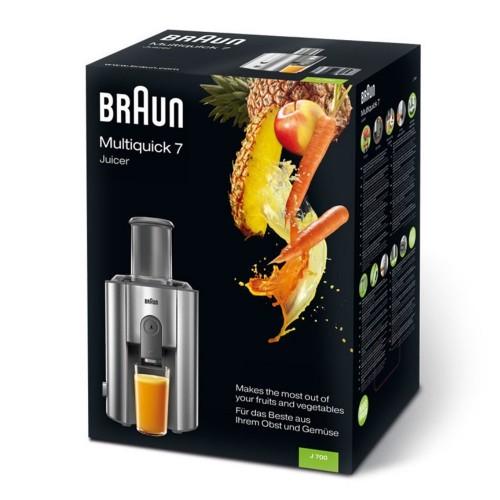 Соковыжималка Braun Multiquick 7 J700S серебристая
