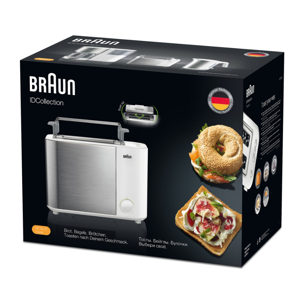 Тостер Braun ID Breakfast Collection HT5010 белый