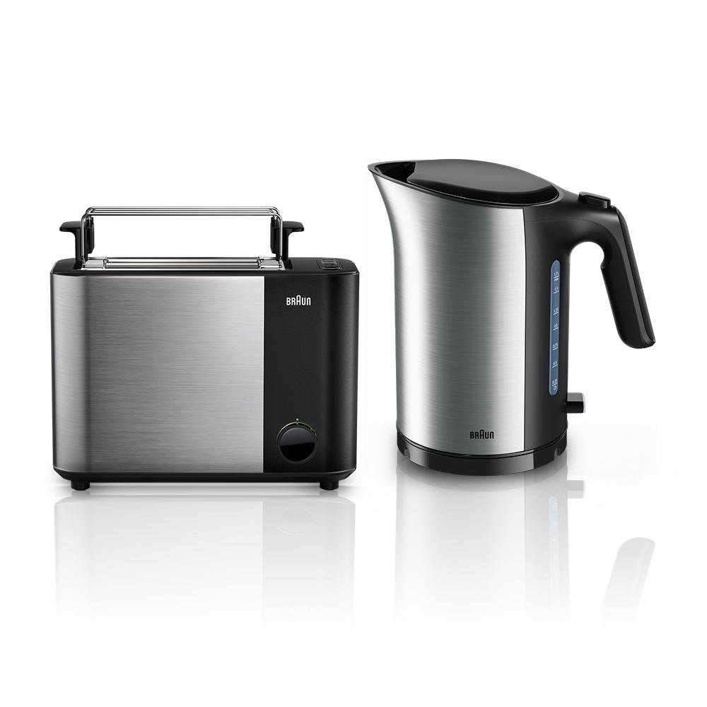 Набор Braun IDCollection: Чайник WK5100BK + Тостер HT5010BK Черный
