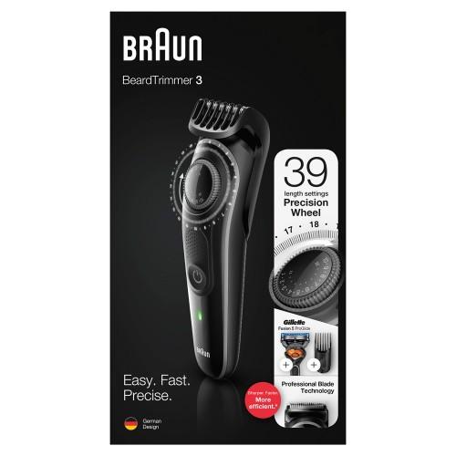 Триммер для бороды Braun BT3242 + Бритва Gillette