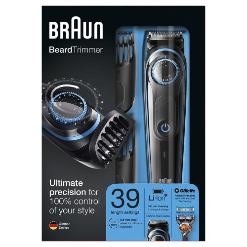 Триммер для бороды Braun BT5040 + Бритва Gillette