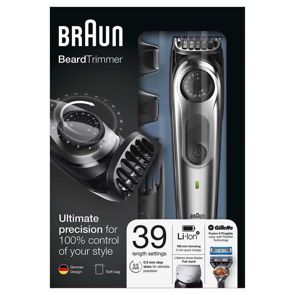 Триммер для бороды Braun BT7020 + Бритва Gillette