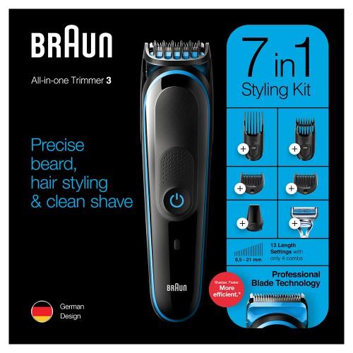Триммер универсальный Braun MGK3242, 7-в-1 + Бритва Gillette