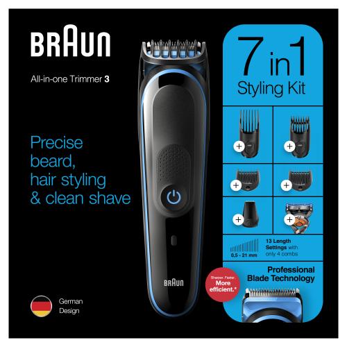 Триммер универсальный Braun MGK3245, 7-в-1 + Бритва Gillette
