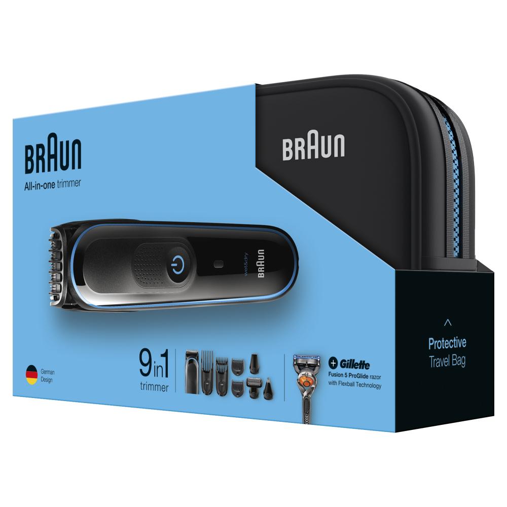 Триммер для стайлинга Braun MGK3980TS + Бритва Gillette